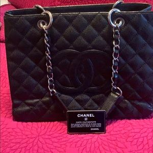 Chanel bag- authentication tag and card in bag!